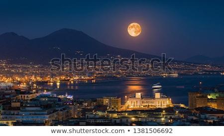 ay · ışığı · ay · okyanus · güzel · gökyüzü - stok fotoğraf © Clivia