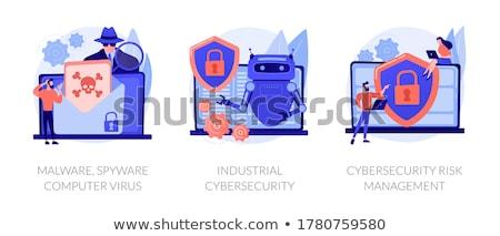 Bewustzijn vector metaforen antivirus software ontwikkeling Stockfoto © RAStudio