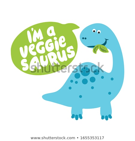 I am a veggie saurus - Herbivore, Funny vegan motivation  Stock photo © Zsuskaa