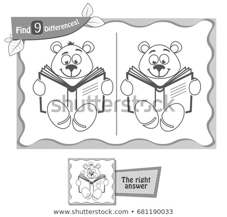 book to read find 9 differences black Stock photo © Olena