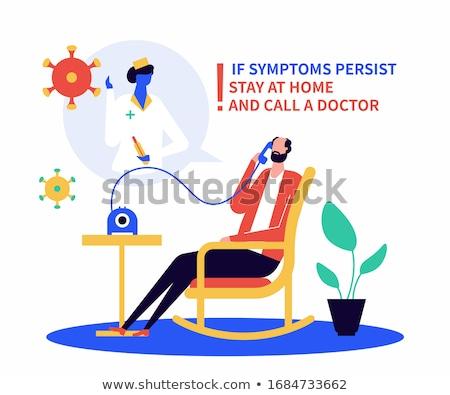 вызова врач нездоровый дизайна стиль иллюстрация Сток-фото © Decorwithme
