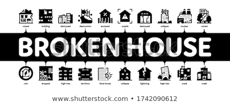 Demolition Building Minimal Infographic Banner Vector Stock photo © pikepicture