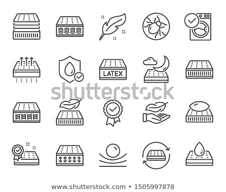 Matras waterdruppel icon schets illustratie vector Stockfoto © pikepicture