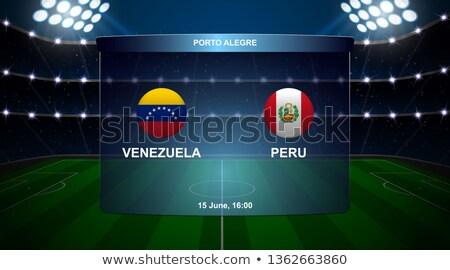 Venezuela vs Peru football match Stock photo © olira
