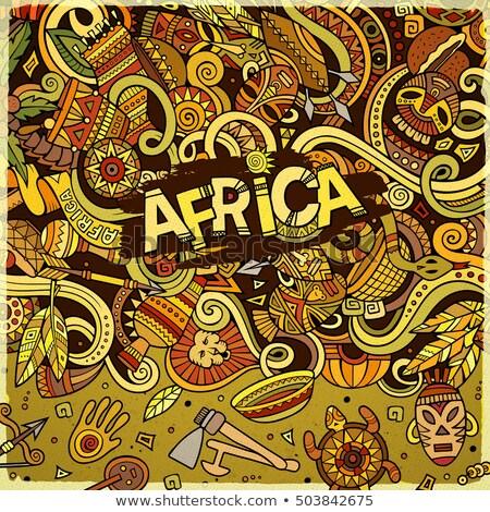 漫画 アフリカ 実例 明るい 色 ストックフォト © balabolka
