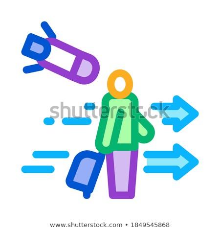 Adam turist ikon vektör örnek Stok fotoğraf © pikepicture