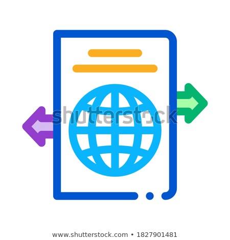 Lugar icono vector ilustración Foto stock © pikepicture