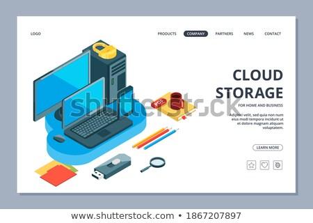 USB connection concept landing page. Stock photo © RAStudio