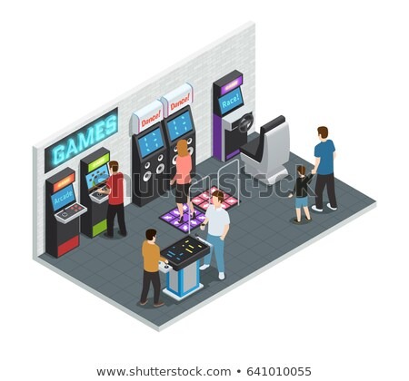 Fortune Wheel, Game Machine Lucky Player Vector Stock photo © robuart