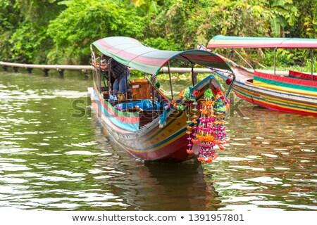 Lang staart boot Bangkok rivier Thailand Stockfoto © bloodua