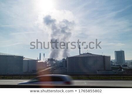 Atmosfer endüstriyel üzerinde dev elektrik santralı Stok fotoğraf © artjazz