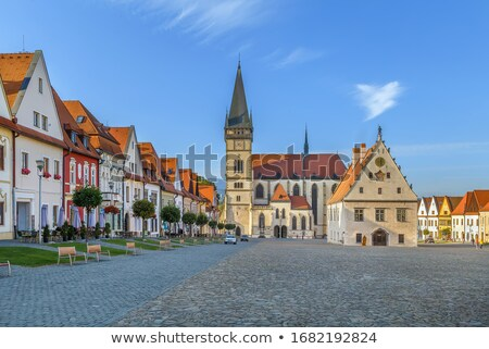 Central square, Bordejov, Slovakia Stock photo © borisb17