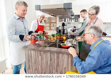 şef sırları sağlıklı pişirme mutfak Stok fotoğraf © Kzenon