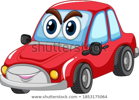 Red car with big eyes carton character isolated Stock photo © bluering