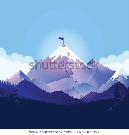 Hegy expedíció vektor metafora értelem kaland Stock fotó © RAStudio