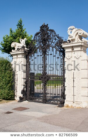 Stock photo: Gate at Belvedere Palace in Vienna Austria