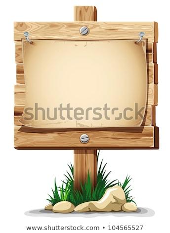 levélpapír · fa · panel · fehér · régi · fa · üzlet - stock fotó © nuttakit
