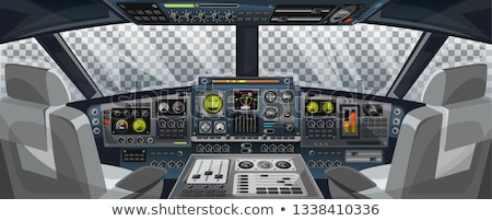 technology airplane instrument panel stock photo © fer737ng
