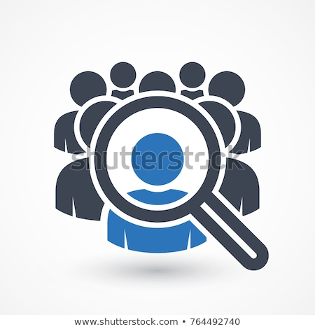 Loupe groupe de discussion mot blanche verres groupe Photo stock © kbuntu