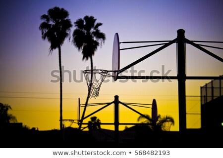 Foto stock: Basketball Hoop L