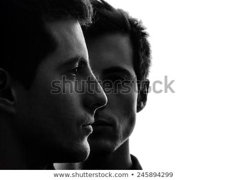 Iker férfiak portré kaukázusi felnőtt kopasz Stock fotó © iofoto
