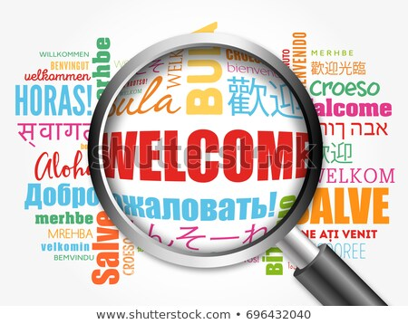 Loupe Bienvenue différent langues illustration Photo stock © kbuntu