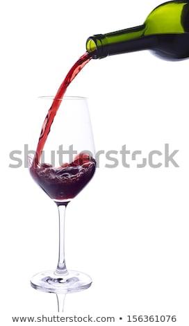 Сток-фото: большой · зеленый · стекла · бутылку · вина · белый