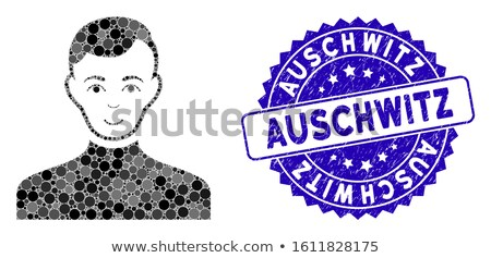 Auschwitz stamp stock photo © Myvector