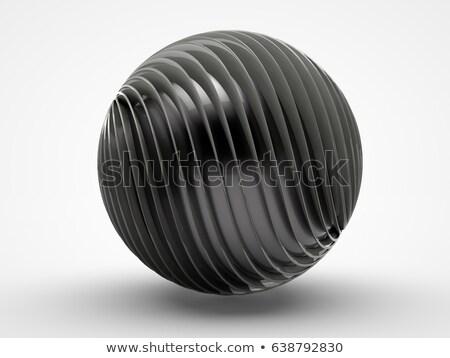 metaal · 3D · bol · abstractie · wereldbol - stockfoto © FransysMaslo