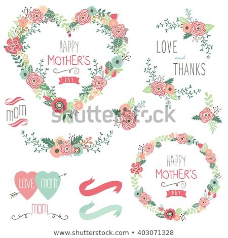 abstrakten · floral · Tulpen · Schmetterlinge · Schmetterling · Design - stock foto © nurrka
