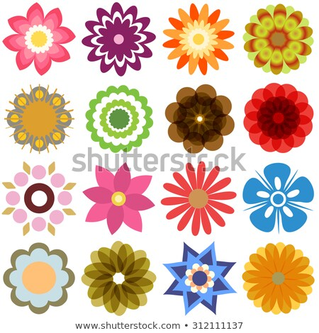Stock photo: Various colorful abstract icons, Set 22