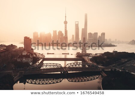 pudong skyline Stock photo © zkruger