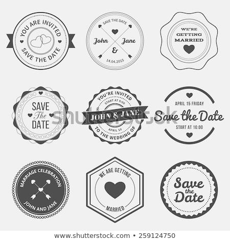 Stock fotó: Esküvő · bélyegek · Valentin · nap · szeretet · galambfélék · szívek