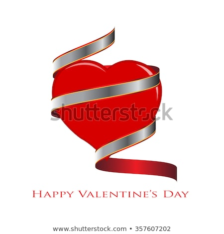 heart wrapped with ribbon stock photo © vectomart