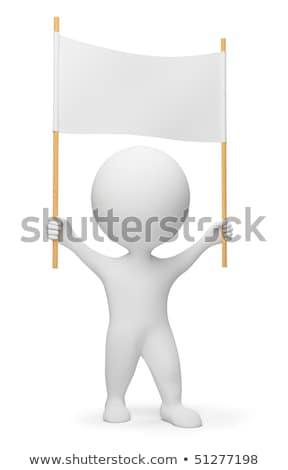 3d small people - demonstrator stock photo © AnatolyM