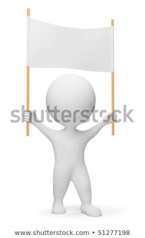 3d small people   demonstrator stock photo © anatolym