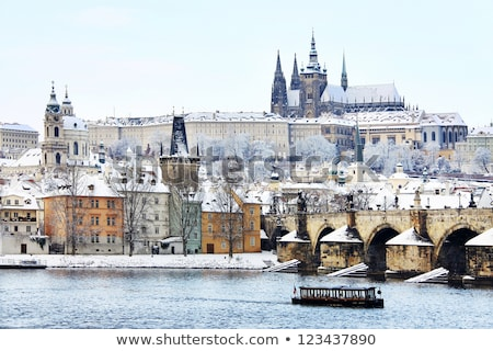 hradcany in winter prague czech republic stock photo © phbcz
