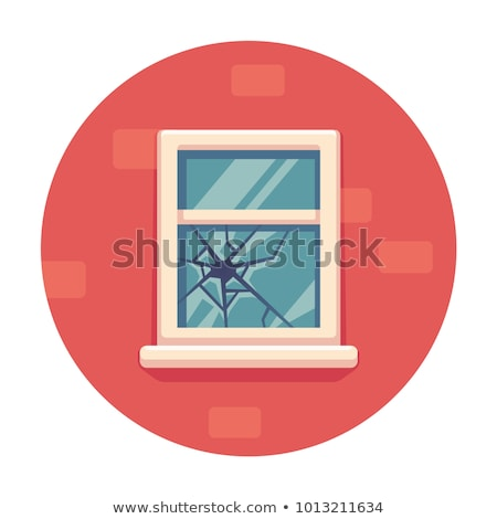 brisé · fenêtre · mur · verre · noir · trou - photo stock © DedMorozz