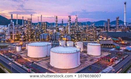 Stock fotó: Olajfinomító · szmog · gyártás · technológia · éjszaka · ipar