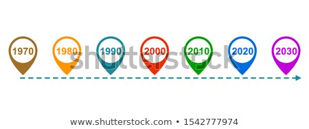 Foto stock: Past Now And Future