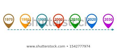 Verleden nu toekomst woorden geschreven krijt Stockfoto © bbbar