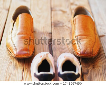 extravagant pink boots Stock photo © phbcz