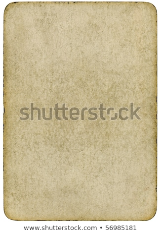 Blank vintage playing card isolated on a white background. Stock photo © latent