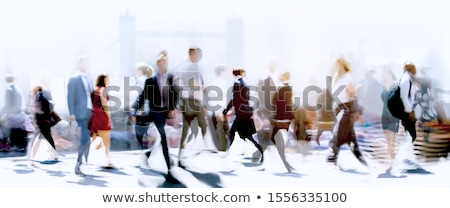 Stock fotó: People Rush On Crowded Street