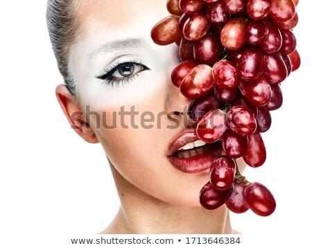 少女 ブドウ かなり 若い女性 クローズアップ ブドウ ストックフォト © olira