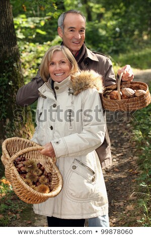Couple rassemblement fille sourire heureux feuille Photo stock © photography33