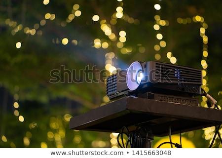 Multimedia zwarte projector muur film licht Stockfoto © ozaiachin