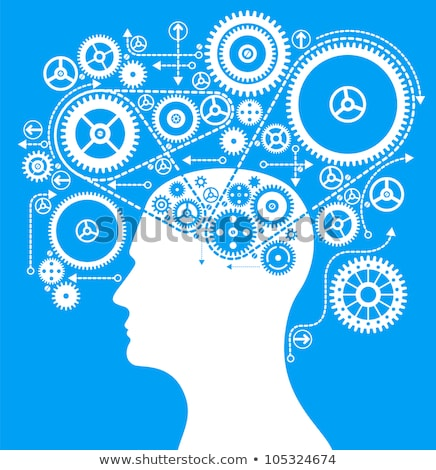 Stock photo: Colorful Gears Forming A Human Brain