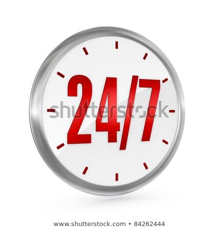 Egy óra számok 24 központ tele Stock fotó © dacasdo