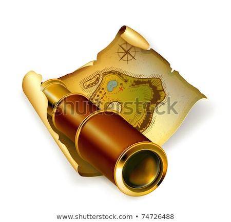 kincstérkép · arany · pénz · 3d · render · tér · kép - stock fotó © winner